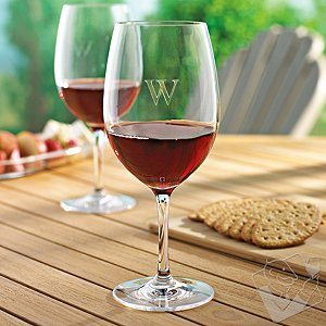 Personalized Indoor/Outdoor Cabernet / Merlot Wine Glasses (Set of 4)