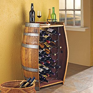 Oak Wine Barrel Bottle Rack