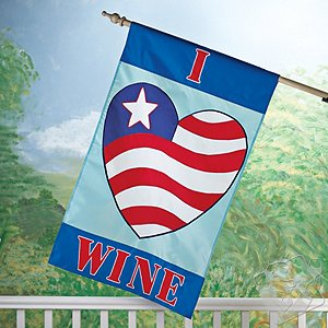 'I Love Wine' Flag