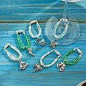 Surf's Up Wine Glass Charms (Set of 6)