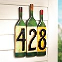 Wine Bottle House Numbers