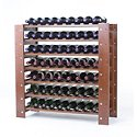 Swedish 63 Bottle Wine Rack Walnut