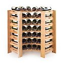 Swedish 42 Bottle Curved Corner Wine Rack (Natural)
