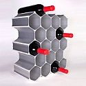 WineHive 22-Bottle Modular Wine Rack