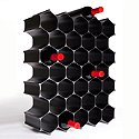 WineHive 36-Bottle Modular Wine Rack 