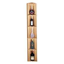 Redwood Modular Wine Rack Kit - Corner Display Shelf