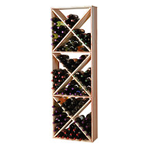 Redwood Modular Wine Rack Kit - 132 Bottle Solid Diamond Cube