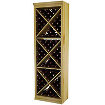 Designer Wine Rack Kit - Solid Diamond Cube With Face Trim