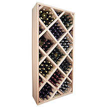 Designer Wine Rack Kit - Diamond Bin With Face Trim