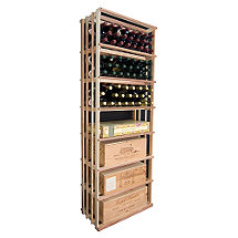 Designer Wine Rack Kit - 6' Vertical Wine Bin