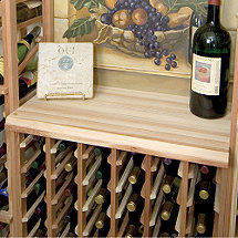Designer Wine Rack Kit - Wood Table Top for 6 Column Wine Rack