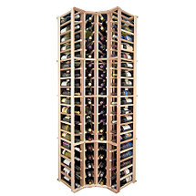 Designer Wine Rack Kit - 4 Column Corner Rack w / o Display