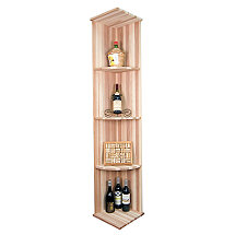 Designer Wine Rack Kit - Vertical Quarter Round Shelf Rack