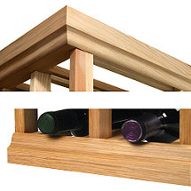 Designer Wine Rack Kit - 4' Molding Kit