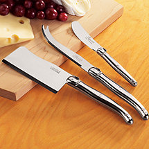 Jean Dubost Laguiole 3-Piece Cheese Knife Set (Stainless
