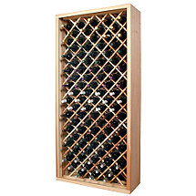 Designer Wine Rack Kit - 90 Bottle Individual Diamond Bin