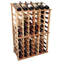 Designer Wine Rack Kit - 6 Column Half Height w / Display