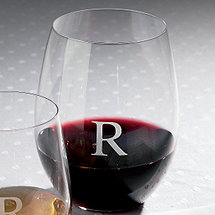 Personalized Riedel 'O' Cabernet / Merlot / Bordeaux Stemless Wine Glasses (Set of 2)