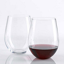 Wine Enthusiast U Cabernet / Merlot Stemless Wine Glasses (Set of 2)