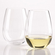 Wine Enthusiast U Chardonnay Stemless Wine Glasses (Set