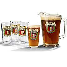 Personalized Neighborhood Beer Set (1 Pitcher & 4 Glasses)