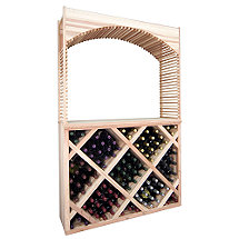 Designer Wine Rack Kit - Diamond Wine Bin Counter w/Archway