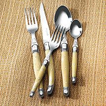 Jean Dubost Laguiole 5-Piece Flatware Set (Pearlized Ivory)