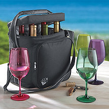 Weekend Wine Bag PLUS Free Set of 4 Indoor/Outdoor Wine Glasses