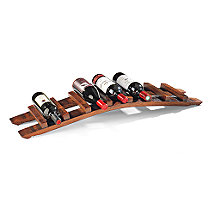 Vintage Oak 7 Bottle Tabletop Wine Rack