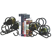 3 Bottle Wine Rack Bookend (Set of 2)