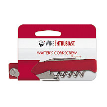 Wine Enthusiast Waiter Style Corkscrew (Burgundy)