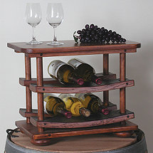 8 Bottle Barrel Stave Wine Rack
