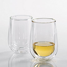 Steady-Temp Double Wall Chardonnay/Chablis Stemless Wine Glasses (Set of 2)
