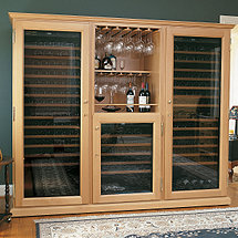 EuroCave Performance 283 Triple Elite Wine Cellar (Multi-Temp) (Natural Varnished - Glass Door)