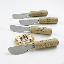 Wine Cork Cheese Spreaders (Set of 4)