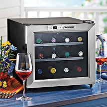 Wine Enthusiast Silent 12 Bottle Wine Refrigerator (Stainless Steel Trim Door)