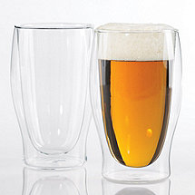 Steady-Temp Double Wall Beer Glasses (Set of 2)
