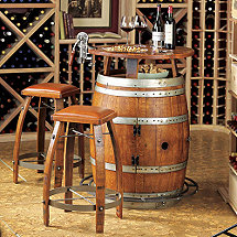 wood barrel furniture. Vintage Oak Wine Barrel Bistro Table \u0026 Bar Stools Wood Furniture