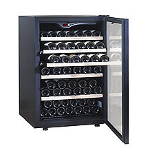 EuroCave Comfort 101 Wine Cellar (1-Temp) (Black - Glass Door Right Hinge)