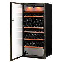 EuroCave Performance 183 Triple Zone Wine Cellar (Black - Left Hinged Glass Door)