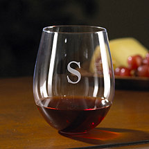 Personalized U Cabernet Stemless Wine Glasses