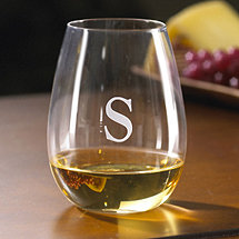 Personalized U Chardonnay Stemless Wine Glasses