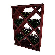 Napa Vintner Stackable Wine Rack - Diamond Bin w / Face Trim