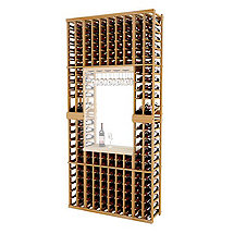 Napa Vintner Stackable Wine Rack - 10 Column Individual w / Display