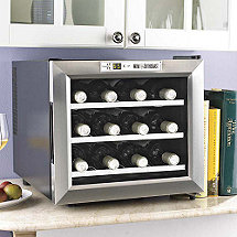 Wine Enthusiast Silent 12 Bottle Wine Refrigerator (Stainless Steel Trim Door) (Outlet B2720213)