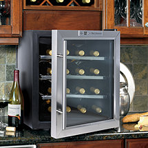 Wine Enthusiast Silent 16 Bottle Wine Refrigerator (Stainless Steel Trim Door) (Outlet B2720217)