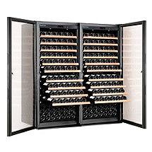 EuroCave Performance 300 Dual Zone Wine Cellar (Black - Glass Door)