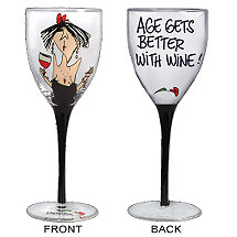 Age Gets Better with Wine! Party Girl Wine Glass