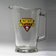 Personalized Red Tavern Beer Pitcher
