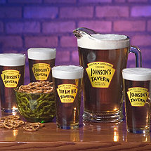Personalized Yellow Tavern Beer Set (1 Pitcher & 4 Glasses)